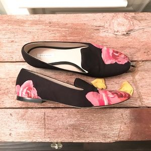 Cole Haan canvas floral Deacon slip on loafers